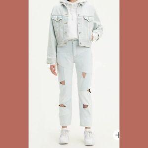 Levi's NWT LW Pieced Denim Crop Jeans 28 x 26